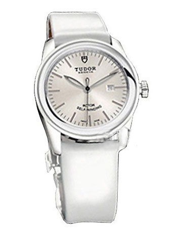 53010w-White patent leather strap