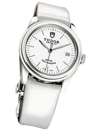 55010w-White patent leather strap