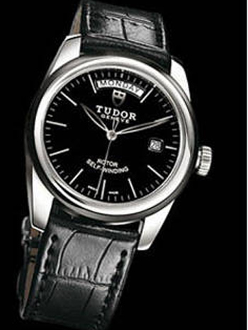 57000 Shiny black leather strap